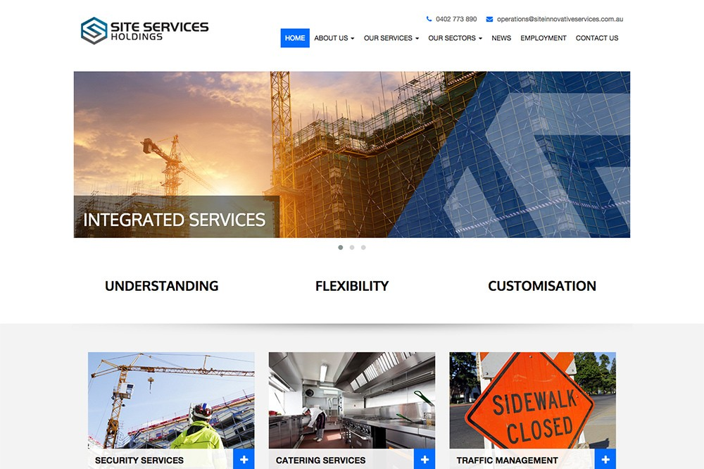 Site Services Holdings – Website Design and Development