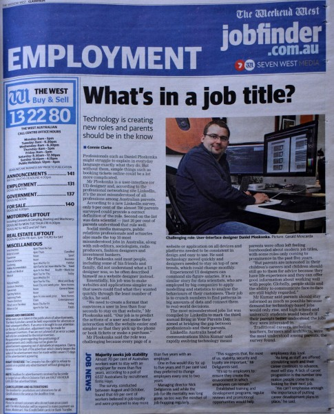Interview that appeared in Weekend West last month.