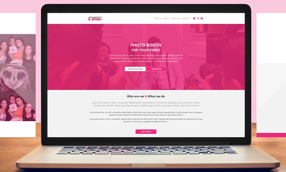 BoothMobil – WordPress Landing Page