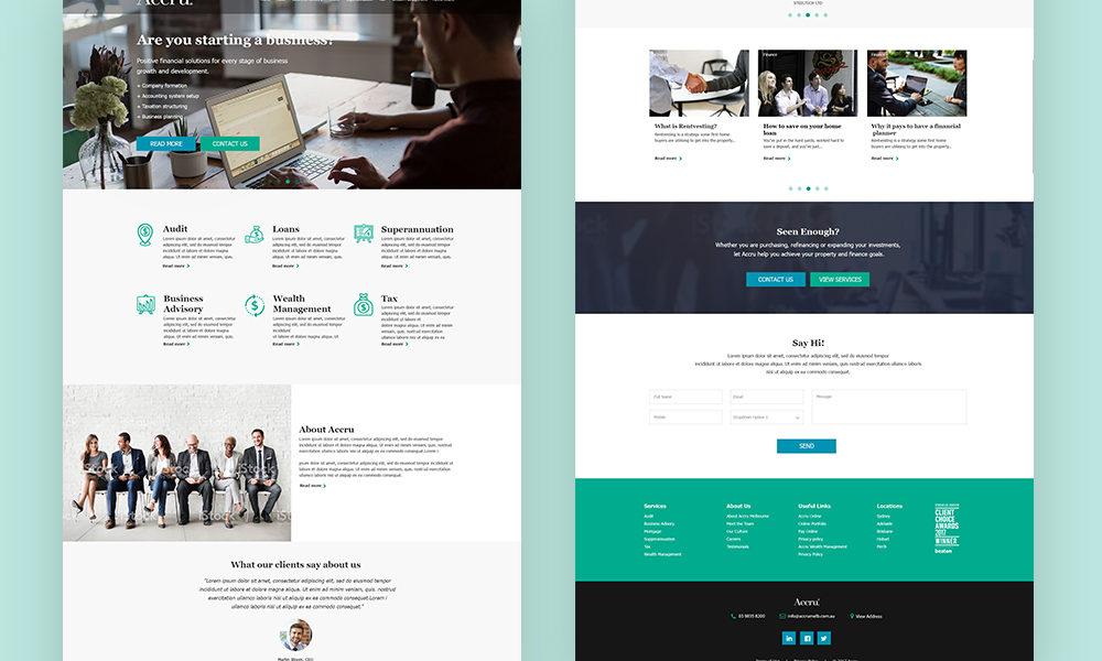 ACCRU Melbourne – UX & UI Design